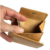 Branco – Small wallet / billfold size S for men made out of leather, upright format, beige, model 12057-5