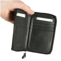 Branco – Large wallet /purse size L for women made out of leather, black, model 230-3