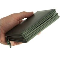 Branco – Large wallet / purse size L for women made out of leather, hunter's green, model 230-5