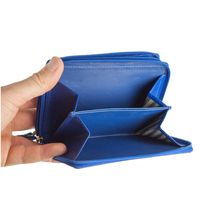 Branco – Large wallet / purse size L for women made out of leather, royal blue, model 230-2