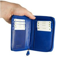 Branco – Large wallet / purse size L for women made out of leather, royal blue, model 230