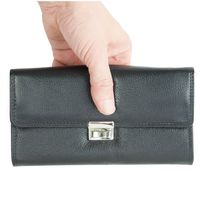 Hamsons – XL professional waiter's wallet / waiter's purse made out of Nappa leather, black, model 1016