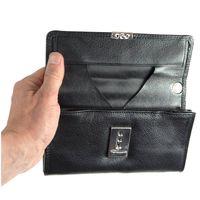 Hamosons – porte-monnaie serveur pro XL / portefeuille serveur professionnel en cuir, noir, modèle 1016
