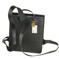 Jahn-Tasche – Medium-sized leather backpack / teacher backpack size M made out of leather, black, model 668-5