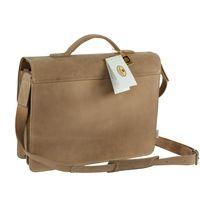 Hamosons, 605 - Klassische, beige Aktentasche bzw. Lehrertasche, Rückansicht - 05