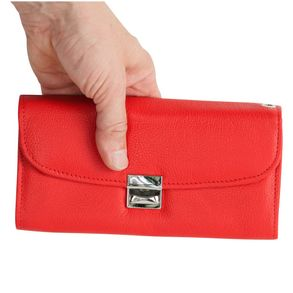 Hamosons – Professional waiter's wallet / waiter's purse made out of Nappa leather, light red, model 1015