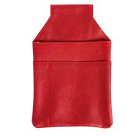Hamosons – Professional waiter's holster / waiter's belt bag made out of Nappa leather, light red, model 1009-2