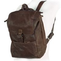 Harolds – Vintage leather backpack size M / retro laptop backpack up to 14 inches, brown, model 258102