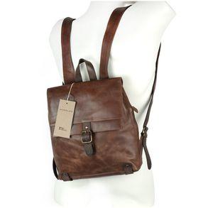Harolds 255802 – Eleganter, brauner Lederrucksack bzw. Cityrucksack, Frontansicht, auf Rücken getragen  - 05