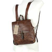 Harolds – Kleiner Lederrucksack Größe S / Rucksack-Handtasche aus Leder, Braun, Modell 255802