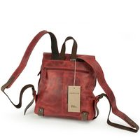 Harolds – Kleiner Lederrucksack Größe S / Rucksack Handtasche aus Leder, Rost-Rot, Modell 255802