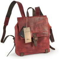 Harolds – Small leather backpack size S / handbag backpack made out of leather, rust red, model 255802-2