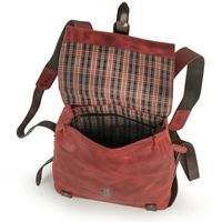 Harolds – Kleiner Lederrucksack Größe S / Rucksack-Handtasche aus Leder, Rost-Rot, Modell 255802