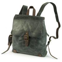 Harolds – Kleiner Lederrucksack Größe S / Rucksack Handtasche aus Leder, Blau-Grau, Modell 255802
