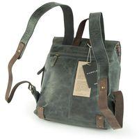 Harolds – Kleiner Lederrucksack Größe S / Rucksack-Handtasche aus Leder, Blau-Grau, Modell 255802