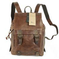 Harold's – Elegant Leather Backpack / Daypack, Brown, Model 223902