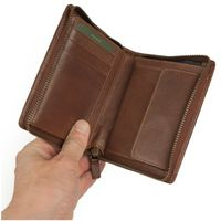 Branco – Large wallet / billfold size L for men made out of leather, upright format, brown, model 35009-6
