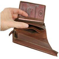 Branco, 35009 - Große Geldbörse bzw. großes Portemonnaie für Herren aus Leder in Braun, Frontansicht aufgeklappt - 02