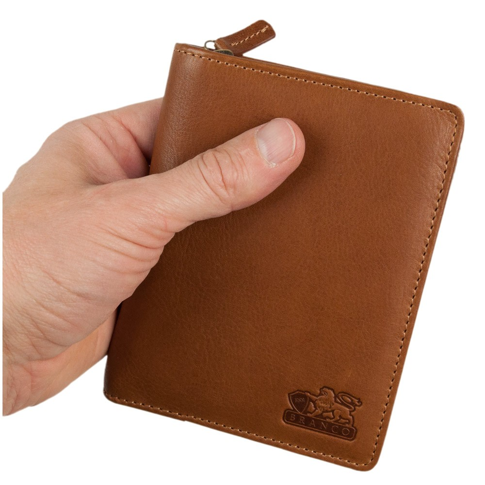 f608b740fb5f3e Branco, 35009 - Große Geldbörse bzw. großes Portemonnaie für Herren aus  Leder in Cognac ...