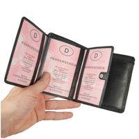 Branco, 12005 - Große Geldbörse bzw. großes Portemonnaie für Herren aus Leder in schwarz, Detailansicht Dokumentenfächer - 03