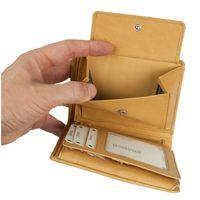 Branco, 12005 - Große Geldbörse bzw. großes Portemonnaie für Herren aus Leder in Natur-Beige, Detailansicht Münzfach - 05