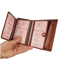 Branco – Large wallet / billfold size L for men made out of leather, upright format, brown, model 12005-3