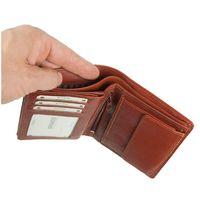 Branco – Große Geldbörse / Portemonnaie Größe L für Herren aus Leder, Hochformat, Braun, Modell 12005