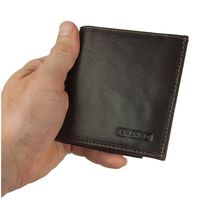 Branco – Small card holder pouch / money-clip wallet size S for men made out of leather, brown, model 16795