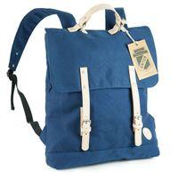 Enter, A16CC130420 – Großer stylischer blauer Canvas-Rucksack bzw. Vintage Rucksack, Frontansicht - 01