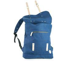 Enter, A16CC130420 – Großer stylischer blauer Canvas-Rucksack bzw. Vintage Rucksack, Frontansicht geöffnet - 03