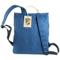 Enter, A16CC130420 – Großer stylischer blauer Canvas-Rucksack bzw. Vintage Rucksack, Rückansicht - 04