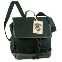 Enter – Mittelgroßer stylischer Canvas Rucksack / Cooler Flap Backpack Größe M, Schwarz, Modell 1627