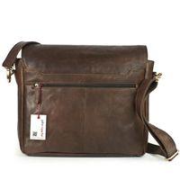 Jahn-Tasche – Elegante Laptoptasche Größe M / Notebooktasche bis 14 Zoll, aus Leder, Braun, Modell 439