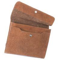 Jahn-Tasche, 664-cw - Cognac-Braune A4 Aktenmappe bzw. Dokumentenmappe, Schrägansicht mit Detailansicht Magnetverschluss - 04