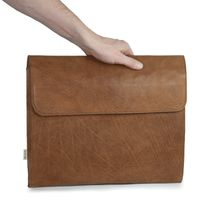 Hamosons – A4 document case / document holder made out of leather, cognac brown, model 665