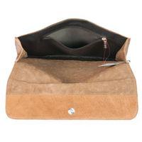 Jahn-Tasche, 664-cw - Cognac-Braune A4 Aktenmappe bzw. Dokumentenmappe, Aufsicht geöffnet mit Detailansicht Reißverschluss-Innenfach - 05
