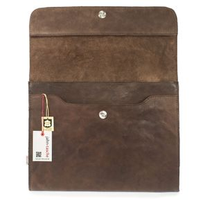 Jahn-Tasche – A4 document case / document holder, made out of leather, brown, model 664
