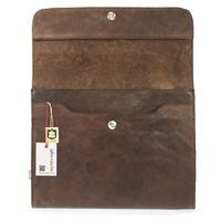 Jahn-Tasche – A4 Dokumentenmappe / Dokumententasche, aus Leder, Braun, Modell 664