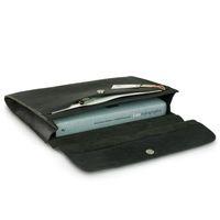 Jahn-Tasche – A4 Dokumentenmappe / Dokumententasche, aus Leder, Schwarz, Modell 664