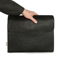 Jahn-Tasche – A4 document case / document holder, made out of leather, black, model 664