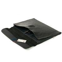Jahn-Tasche, 1042-cw - Schwarze A4 Aktenmappe bzw. Dokumentenmappe, Aufsicht geöffnet, Detailansicht Fächer - 04