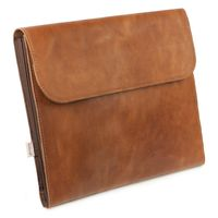 Jahn-Tasche – A4 document case / document holder, made out of leather, cognac brown, model 1042