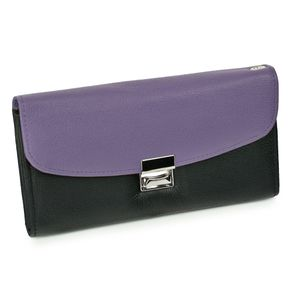 Hamosons – Two coloured professional waiter's wallet / waiter's purse made out of Nappa leather, black with purple, model 1014