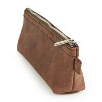 Jahn-Tasche – Practical pencil case / pencil pouch in size M made out of buffalo leather, brown, model 010-3