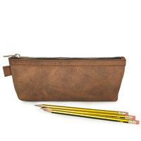 Jahn-Tasche – Practical pencil case / pencil pouch in size M made out of buffalo leather, cognac brown, model 010