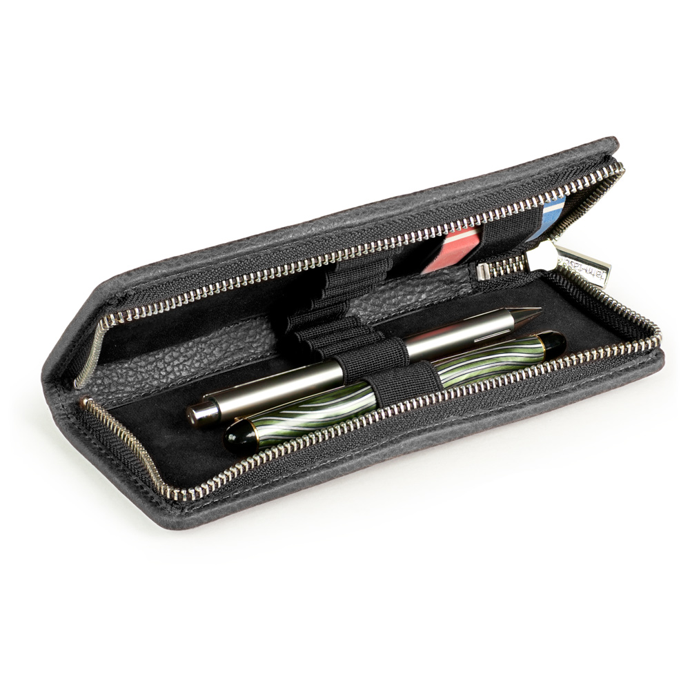 size 40 a9cba 4f833 Jahn-Tasche – Exclusive foldable pencil case / leather etui in size ...
