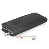 Jahn-Tasche, 012 - Exklusives Federmäppchen bzw. Lederetui aus Büffelleder in Schwarz, Aufsicht von hinten - 05