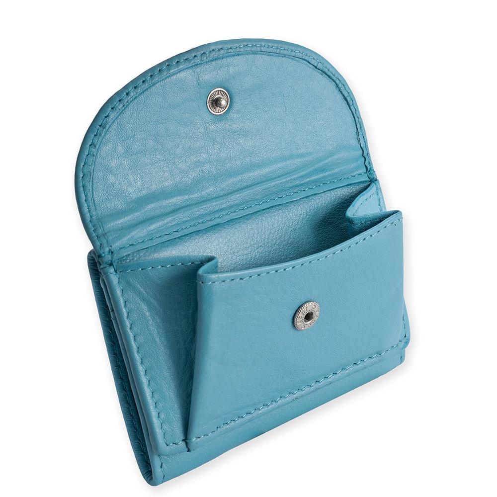 Geldbeutel Portemoneie blau türkis Leder