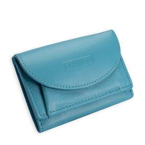 Branco, 31105 - Kleine Geldbörse bzw. Mini Portemonnaie in hellem Türkis-Blau, Frontansicht - 01