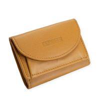 Branco – Kleine Geldbörse / Mini-Portemonnaie Größe XS aus Leder, dunkles Curry-Gelb, Modell 31105
